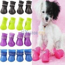 Puppy Pet Dog Waterproof Boots Water Protective Rubber Rain Shoes Booties New