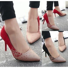 Trendy Sexy Office Lady Pointy Toe Pumps Slim High Heels Stilettos Prom Shoes