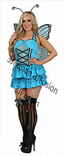 Ladies Adult Sexy Blue Fantasy Butterfly Nymph Fancy Dress FREE 1ST CLASS POST