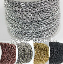 2-10M Gold Silver Bronze Open Ring Cable Aluminum Chain Finding Craft 6x4mm DIY