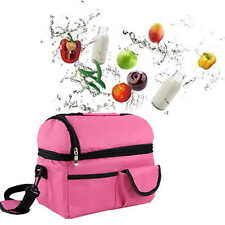 Thermal Cooler Insulated Waterproof Shoulder Picnic Cooler Lunch Bag Storage Box