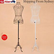 Female Vintage Wrought Iron Wire Mannequin Metal Adjustable Height Shop Hanger
