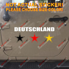 Deutschland Germany Flag Star German Football Weltmeister Car Decal Sticker