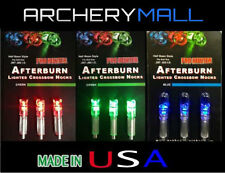 3 AFTERBURN LIGHTED NOCKS FOR CROSSBOW ARROWS  ( FITS BOLTS SIZE 297-302 I.D.)