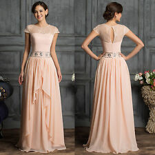 Long Mother of the Bride Ball Gown Wedding Bridesmaid Evening Party PROM Dresses