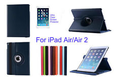 For ipad Air/Air 2 Screen Protector/ Rotating PU Leather Case Cover