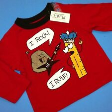 "~NEW~ ""I Rock! I Rule!"" Baby Boys Graphic Shirt 6-9 12 24 Months 3T 4T Cute Gift"
