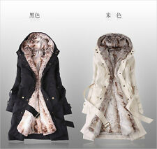 New Womens Thicken Warm Winter Coat Hood Parka Overcoat Long Outwear Jacket
