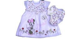 Baby Girls Disney Minnie Mouse Summer Dress & Pants Tiny through to 18 Months