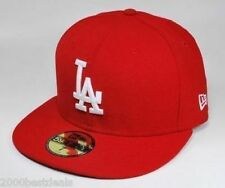 NEW ERA CAP 59FIFTY MLB BASEBALL LOS ANGELES DODGERS 5950 BIG SIZES RED WHITE