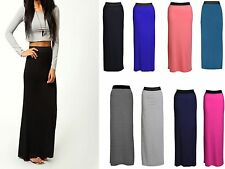 New Ladies Women Gypsy Long Jersey Maxi Dress Skirt Ladies Skirt Size 8-14