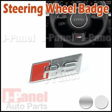 RS STEERING WHEEL BADGE EMBLEM STICKER FOR A3 A4 A5 A6 S3 S4 S5 TT Q7 2 COLORS