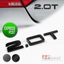 2.0T REAR BADGE EMBLEM AUDI S LINE TT A4 QUATTRO 2.0T ENGINE CAR USE 2 COLORS