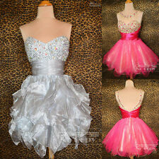 Beaded Short Evening Party Gowns Prom Cocktail Homecoming Dresses 6 8 10 12 14
