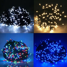 Green Wire 30M 300LED Fairy String Lights Christmas Party Tree Outside UK Garden