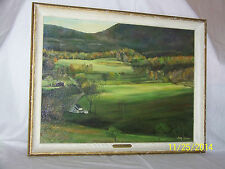 "Original Oil On Artist Board Landscape ""Peace At NightFall"" Painting"