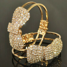 Charm Bracelet 18K Gold Plated Silver Chain Crystal Bowknot Fashion Jewelry