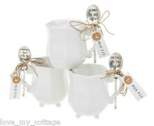 MUD PIE Silver Plated Vintage Antique Style Embossed Tea Spoon & Cup Gift Set