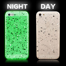 Hard Case Cover For iPhone 4S 5S 6 6plus Glow In The Dark Slim Transparent