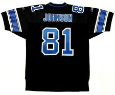 CALVIN JOHNSON AUTHENTIC REEBOK DETROIT LIONS 2007 ROOKIE STYLE BLACK JERSEY