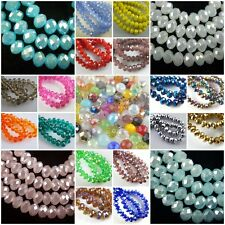 Loose Glass Crystal Faceted Rondelle Charm Spacer Beads 3mm/4mm/6mm/8mm