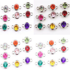 New 20/100Pcs Acrylic Mixed Clear Czech Crystal Link Connector Bead Charm 8/10mm