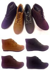New Women's Cute Comfort Ankle Lace Up Flat Casual Oxford Shoe