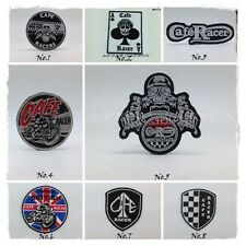 CAFE RACER Sew Iron On Patch Embroidered Motorcycle Vintage British Classic Logo