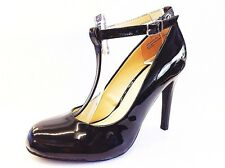 Women Round Toe Strappy Ankle T-Strap Stiletto Heel Pump Shoes NEW