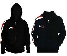 New Mass effect John·Shepard N7 Cosplay Jacket Costume Coat Hoodie100% Cotton @3