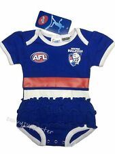 Western Bulldogs AFL Girls Baby Footysuit 'Select Size' 000-2 BNWT