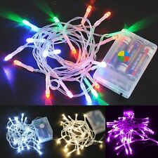 9 Colors 1M 10 LED String Lights Xmas Garden Party Holiday Outdoor Decoration