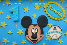 Mickey Mouse cake toppers sugar decoration birthday set Disney novelty stars
