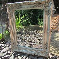 WALL HANGING ORNATE MIRROR 52X42 CM GOLD SILVER RECTANGLE FRENCH VINTAGE ANTIQUE