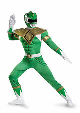 Classic Power Rangers - Adult Green Ranger Muscle Costume