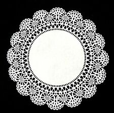 "WHITE Cambridge Lace PAPER DOILIES || 4"" 6"" 8"" 10"" 