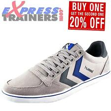 Hummel Mens Slimmer Stadil Canvas Lo Casual Classic Retro Trainers AUTHENTIC