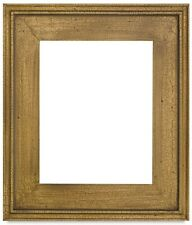 "CLASSIC MODERN PICTURE PAINT FRAME PLEIN AIR WOOD GOLD CRACKLE 2.5"" WIDE Free Sh"