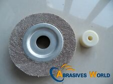 1 Pcs 160mm X 20mmX 2mm 5Abrasive Flap Sanding Wheel with washer Grit 80 /120