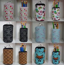 Fabric Eyeglass Case OR Fabric Pencil Holder Cup Sweet Gift Apples Fox Birds Cat