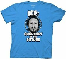 Adult Men's Workaholics Ice: Currency of the Future Turquoise Blue T-shirt Tee