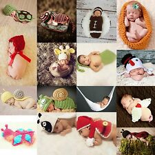 Baby Newborn Cosplay Photo Props Crochet Knitted Hat Cover Hammock Bowl Costume