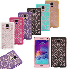 Retro Lace Luxury Slim Flip Hard Case Cover Skin For iPhone Samsung Galaxy