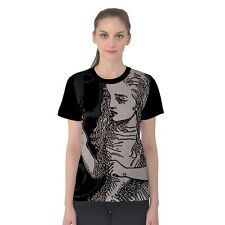 Alice In Wonderland with Drink Me Bottle Grunge All Over Print Women's T-shirt