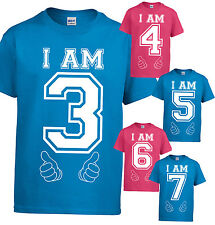 kids age t-shirts children clothing boys girls tops tshirts summer birthdays new