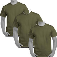3 x army military t-shirts pack marine army olive green cotton survival british