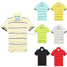 New Fashion Mens Cotton Solid Lapel Collar Short Sleeves POLO T-Shirt S-3XL T84