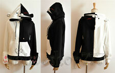 Dangan Ronpa Kuma Monokuma Black White Sweater Hoodie Gloves Cosplay Free Ship