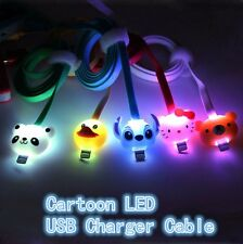 1M Cartoon LED Light Charger Data Sync USB Cable For Android iPhone 5 6 Samsung