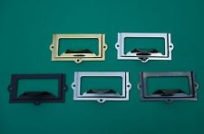 5 FINISHES FILE CABINET CARD HOLDER WITH PULL, LABEL HOLDER, CARD HOLDER